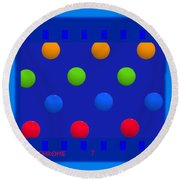 Particle 7 Round Beach Towel