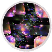 Particle Accelerator Round Beach Towel
