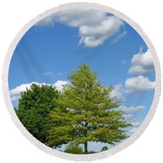 Partly Cloudy Day Round Beach Towel