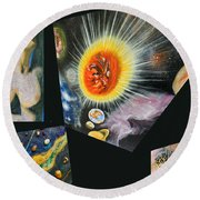 Parts Of Universe Round Beach Towel