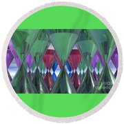 Party Glasses Round Beach Towel