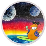 Party On Slurms Round Beach Towel by Drew Goehring