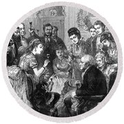 Party Toast, 1872 Round Beach Towel