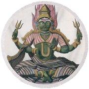 Parvati, From Voyage Aux Indes Et A La Round Beach Towel