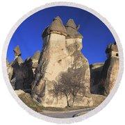Pasabag Goreme National Park Cappadocia Turkey Round Beach Towel