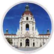 Pasadena City Hall, Pasadena California Round Beach Towel