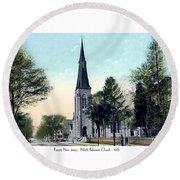 Passiac New Jersey - Norht Reformed Church - 1910 Round Beach Towel