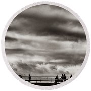 Passing Clouds Round Beach Towel