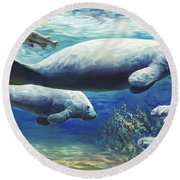 Passing Time Round Beach Towel