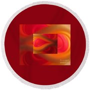 Passion Abstract 02 Round Beach Towel