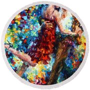 Passion Dancing Round Beach Towel