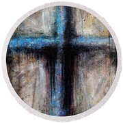 Passion Of The Cross Round Beach Towel