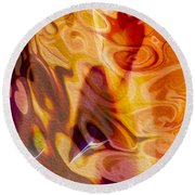 Passion Represents Color Round Beach Towel