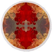 Passionate Explosions Of Colorful Reality By Omaste Witkowski Round Beach Towel