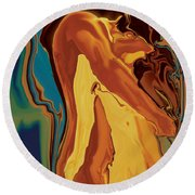 Passionate Kiss 2 2008 Round Beach Towel
