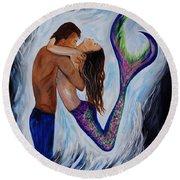 Passionate Mermaid Round Beach Towel