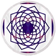 Passionate Purple Prayers Abstract Chakra Art By Omaste Witkowsk Round Beach Towel