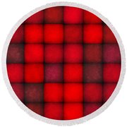 Passionate Reds Decor Round Beach Towel