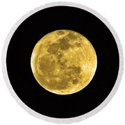 Passover Full Moon Round Beach Towel by Al Powell Photography USA
