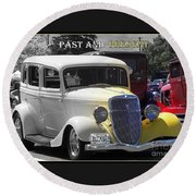 Past And Present Classic Round Beach Towel