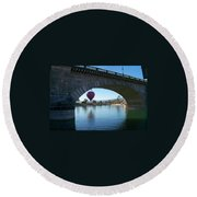 Past And Present Meet Round Beach Towel