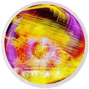 Past Sunset Midway Round Beach Towel