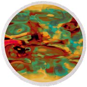 Pastel 5 Round Beach Towel