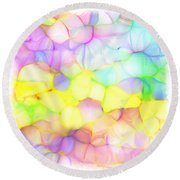 Pastel Abstract Patterns IIi Round Beach Towel