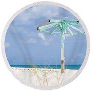 Pastel Beach Frame Round Beach Towel