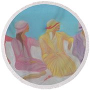 Pastel Hats By Jrr Round Beach Towel