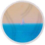 Pastel Trip Round Beach Towel