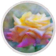 Pastelacious Rose Round Beach Towel