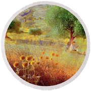 Pastelero Spain Round Beach Towel