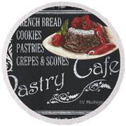 Pastry Cafe Round Beach Towel