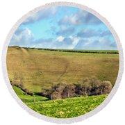 Pasture Land - Dorset Round Beach Towel