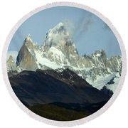 Patagonia Mount Fitz Roy 1 Round Beach Towel