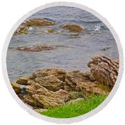 Patch Reefs At Point Amour In Labrador Round Beach Towel