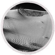 Patches In The Dunes Round Beach Towel