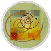 Patchwork I Round Beach Towel