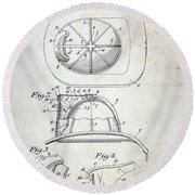 Patent - Fire Helmet Round Beach Towel