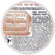 Patent Medicine Ad, 1890s Round Beach Towel