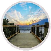 Path 2 Round Beach Towel