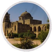 Path In Front Of A Church, Mission San Round Beach Towel