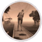 Path In Life Round Beach Towel by Bob Orsillo
