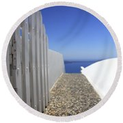 Path Out To Sea Round Beach Towel
