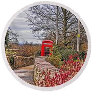 Path Through The Cotswolds Round Beach Towel
