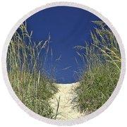 Path Through The Dunes Round Beach Towel