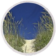Path Through The Dunes Round Beach Towel