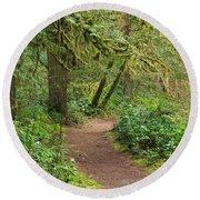 Path Through The Rainforest Round Beach Towel