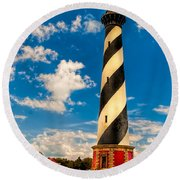 Path To Cape Hatteras Light Round Beach Towel